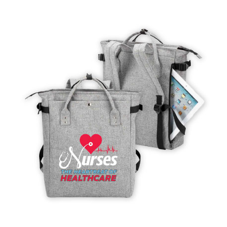 Nurses The Heartbeat Of Healthcare Freeport 2 In 1 Tote Bag Backpack